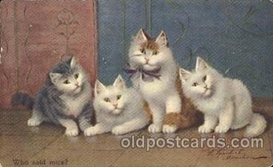 cat001301 - Artist Sperlich, Cat, Cats, Postcard Post Card