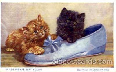 cat001536 - Artist M. Gear Cat Cats, Post Card, Post Card
