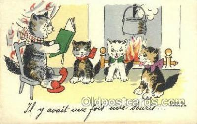 cat001655 - Cat Cats, Old Vintage Antique Postcard Post Card