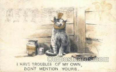 cat001702 - Cat Cats, Old Vintage Antique Postcard Post Card