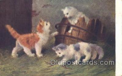 cat001712 - Artist Sperlich, Cat Cats, Old Vintage Antique Postcard Post Card