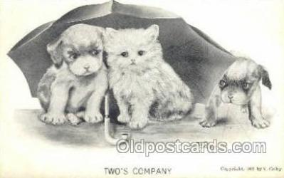 cat001713 - Artist Colby, Cat Cats, Old Vintage Antique Postcard Post Card