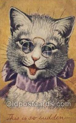 cat001719 - Artist Arthur Thiele Cat Cats, Old Vintage Antique Postcard Post Card