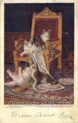 cat001722 - Cat Cats, Old Vintage Antique Postcard Post Card