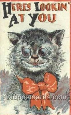 cat001724 - Cat Cats, Old Vintage Antique Postcard Post Card