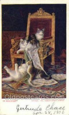cat001748 - Cat Cats, Old Vintage Antique Postcard Post Card