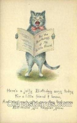 cat001751 - Cat Cats, Old Vintage Antique Postcard Post Card