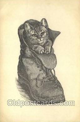 cat001752 - Cat Cats, Old Vintage Antique Postcard Post Card
