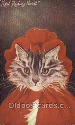 cat001798 - Artist G.L. Barnes, Cat Cats, Old Vintage Antique Postcard Post Card