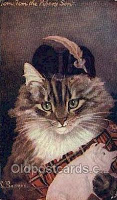 cat001799 - Artist G.L. Barnes, Cat Cats, Old Vintage Antique Postcard Post Card