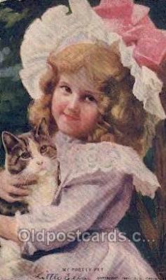 cat001804 - Cat Cats, Old Vintage Antique Postcard Post Card