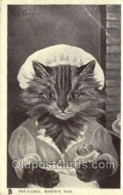 cat001819 - Artist G.L. Barnes, Cat Cats, Old Vintage Antique Postcard Post Card