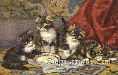 cat001850 - #140 Artist Merlin Old Vintage Antique Post Card Post Card