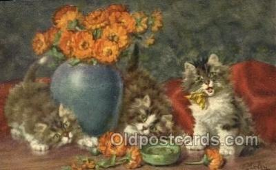 cat001853 - #161 Artist Merlin Old Vintage Antique Post Card Post Card