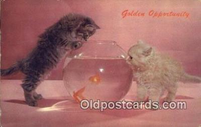 cat001861 - Chrome Cat Postcard, Post Card, Postales, Postkaarten, Kartpostal, Cartes, Postale, Postkarte, Ansichtskarte