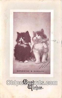 cat002089 - Sunshine & Shadow H I Robbins Postcard Post Card