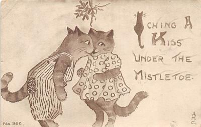 cat002151 - Cat Post Card Old Vintage Antique