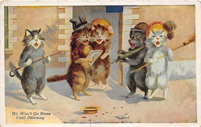 cat002160 - Cat Post Card Old Vintage Antique