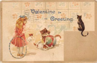 cat002166 - Cat Post Card Old Vintage Antique