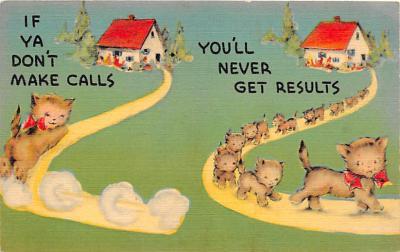cat002193 - Cat Post Card Old Vintage Antique