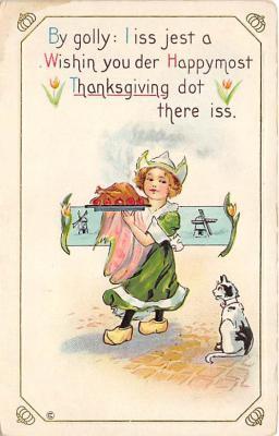 cat002278 - Cat Post Card Old Vintage Antique