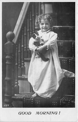 cat002280 - Cat Post Card Old Vintage Antique
