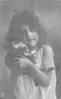 cat002284 - Cat Post Card Old Vintage Antique