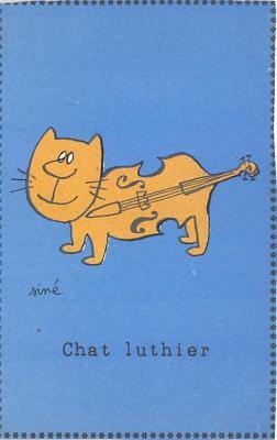 cat002301 - Cat Post Card Old Vintage Antique