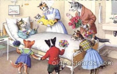cat096 - Artist Alfred Mainzer Postcard Post Card