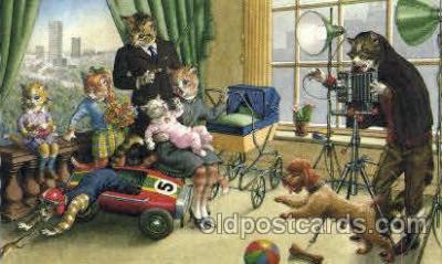 cat208 - Artist Alfred Mainzer Postcard Post Card