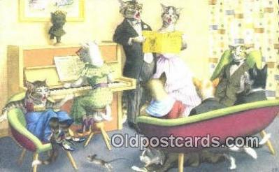 cat254042 - Alfred Mainzer Post Card Artist Signed Cat Post Card Old Vintage Antique