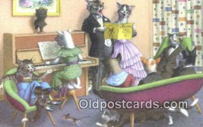 cat254048 - Alfred Mainzer Post Card Artist Signed Cat Post Card Old Vintage Antique
