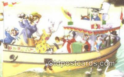 cat254054 - Alfred Mainzer Post Card Artist Signed Cat Post Card Old Vintage Antique