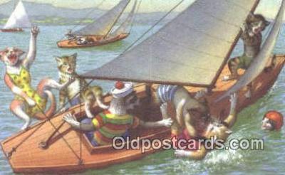 cat254063 - Alfred Mainzer Post Card Artist Signed Cat Post Card Old Vintage Antique