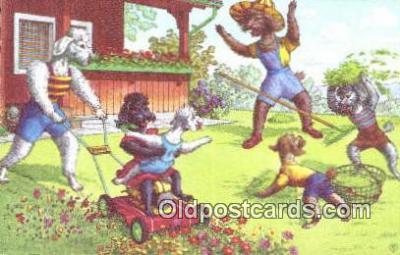 cat254073 - Alfred Mainzer Post Card Artist Signed Cat Post Card Old Vintage Antique