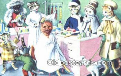 cat254104 - Alfred Mainzer Post Card Artist Signed Cat Post Card Old Vintage Antique