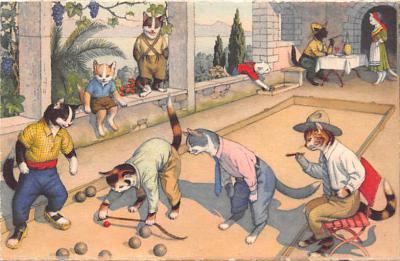 cat254371 - Cat Post Card Old Vintage Antique