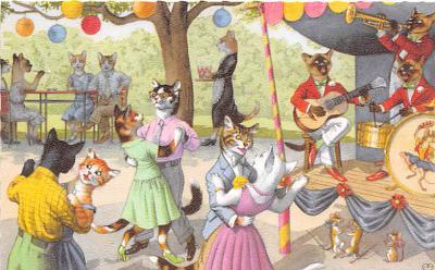 cat254439 - Cat Post Card Old Vintage Antique