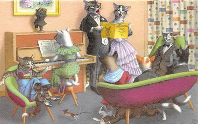 cat254445 - Cat Post Card Old Vintage Antique