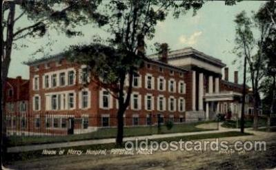 cau001004 - Pittsfield, Mass Mercy Hospital Old Vintage Antique Post Card Post Card