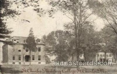 cau001009 - St. Charles Millitary, Mo. USA  St. Charles Military College Old Vintage Antique Post Card Post Card