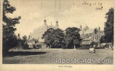 cau001023 - Eton College, Windsor England Old Vintage Antique Post Card Post Card