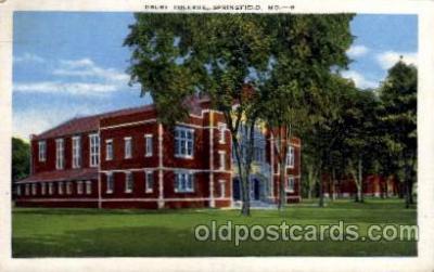cau001027 - Drury College, Springfield, Mo. USA  Old Vintage Antique Post Card Post Card