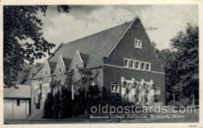cau001045 - Monmouth, Illinois USAMonmouth College Auditorium Old Vintage Antique Post Card Post Card