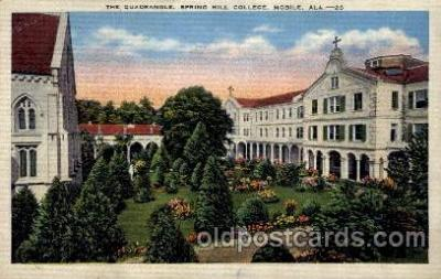 cau001046 - Spring Hill College, Mobile, AL USA The Quadrangle Old Vintage Antique Post Card Post Card