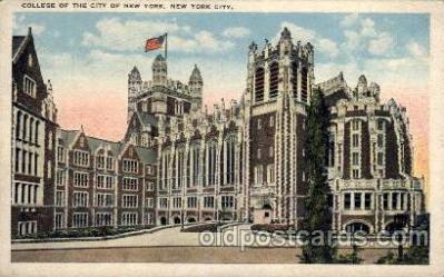 cau001048 - New York City, New York USA College of the City of New York Old Vintage Antique Post Card Post Card