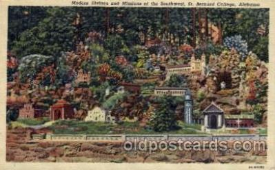 cau001050 - St. Bernard College, AL USA Modern Shrines & Missions of the South Old Vintage Antique Post Card Post Card