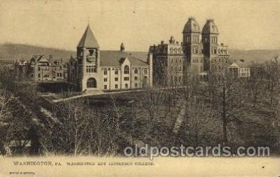 cau001057 - Washington, PA USA Washington & Jefferson College Old Vintage Antique Post Card Post Card