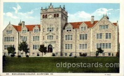 cau001059 - Muhlenberg, Allentown, PA College Old Vintage Antique Post Card Post Card