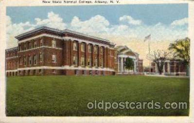 cau001064 - New State Normal, Albany, NY USA College Old Vintage Antique Post Card Post Card